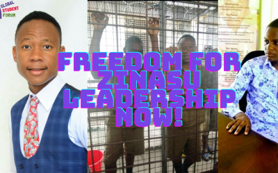 Freedom for the Secretary General and President of the Zimbabwe National Students Union (ZINASU)