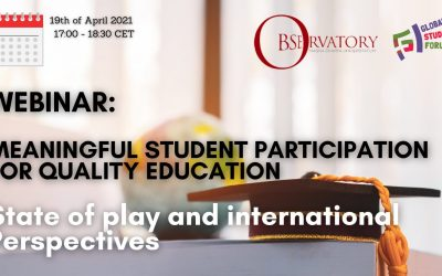 Webinar on Student Participation co-hosted with the Magna Charta Observatory