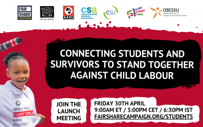 Launch Event – End Child Labour: Youth & Student Resources