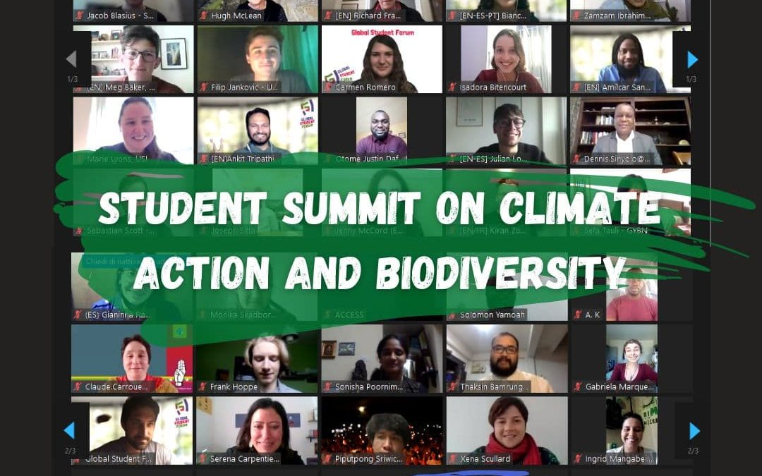 Thank you for your participation: Student Summit on Climate Action and Biodiversity