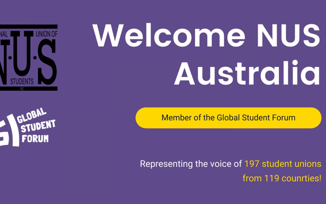 Press Release – NUS Australia joins the Global Student Forum