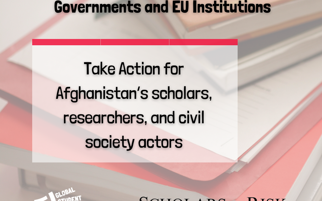 Urgent Appeal to European Governments and EU Institutions (SAR/GSF/ESU)