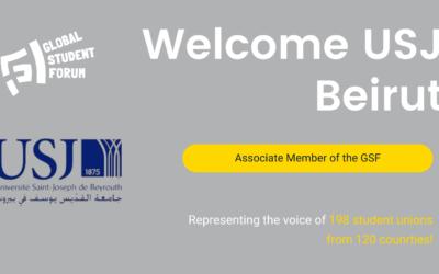 The General Student Council of Université Saint-Joseph de Beyrouth (USJ) joins the GSF