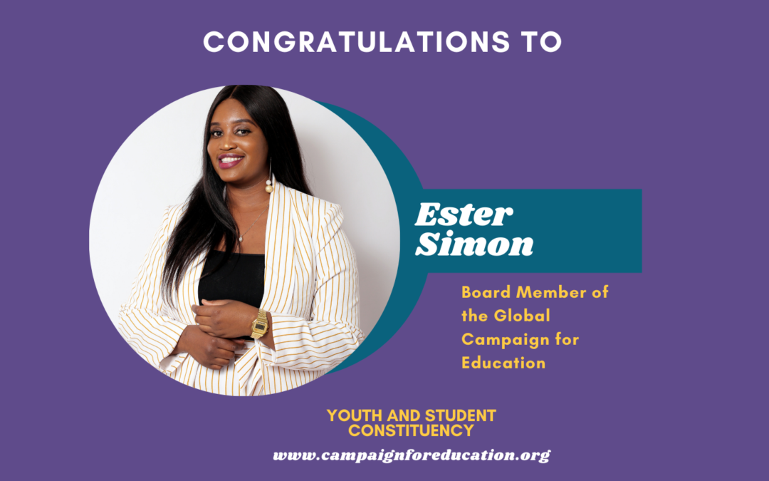 Ester Simon elected as Board Member in the Global Campaign for Education