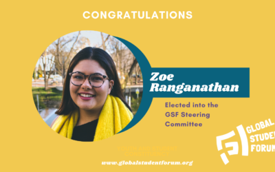 Zoe Ranganathan elected into the GSF Steering Committee